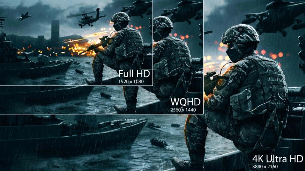 Battlefield auf 4K Gaming Monitor
