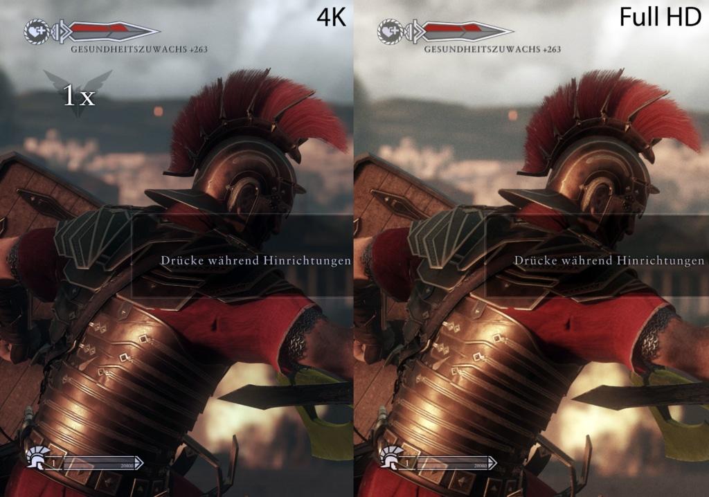Ryse of Rome 4K Gaming vs Full HD