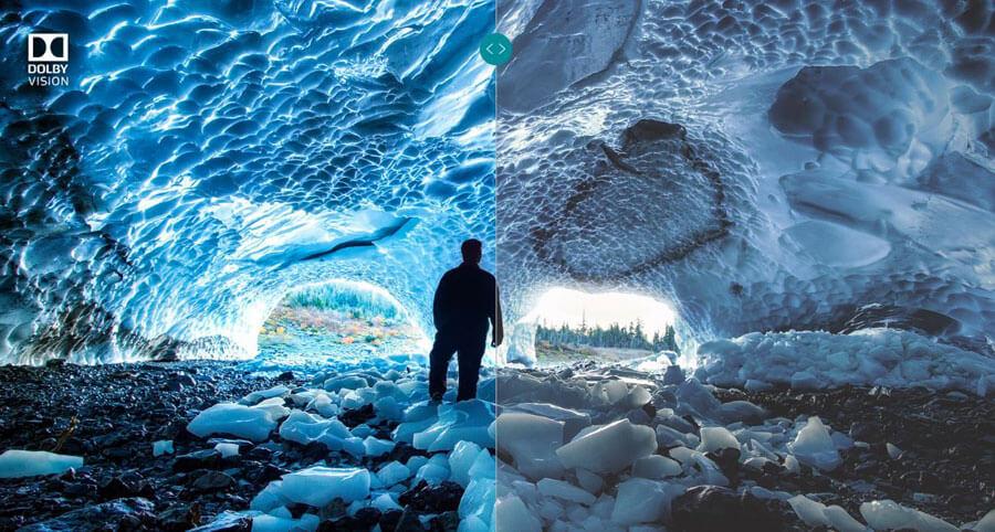 Mann-steht-in-Höhle-mit-und-ohne-HDR