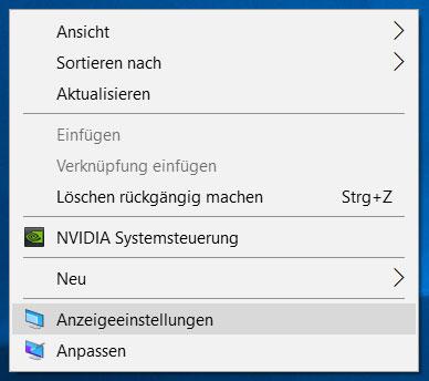 Windows-10-anzeigeeinstellungen