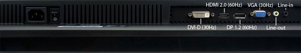 AOC U3277PWQU Anschlüsse